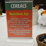 health tip at breakfast