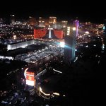 52nd floor view of the strip