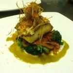 Sea Bass / Rapini / roasted garlice lemon beurre blanc