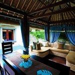 Living pavillion of villa (kitchenette/dining/lounge)