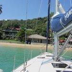 Sailing back to shore