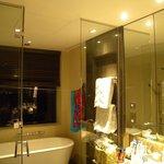 Bathroom in main bedroom in president suite.