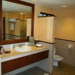 Pool view room bathroom
