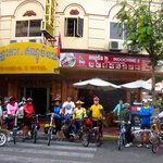 11 of us outside Indochine2 before our ride to Vietnam.