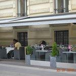 Streetside cafe