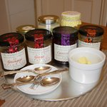 The Wooden Spoon's selection of marmalades and jams