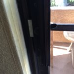 useless lock on balcony door