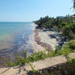 La plage de sable fin et de corail