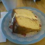 Victoria Sponge Cake - it really is that big!