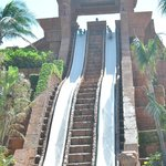 Challengers water slide at the Mayan Temple