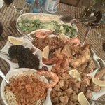 Diverse sea food