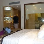 Our room, with view into bathroom!