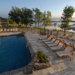 Pool overlooking lake Monroe
