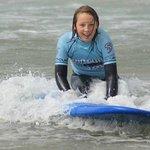 Girl Surfing North Devon