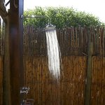 A refreshing outdoor shower