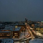 Uitzicht met sneeuw