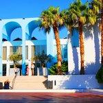 Palmeneingang auf dem Hotelgelände