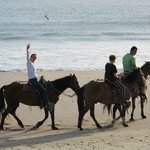 The Horseback Ride ends on the Beach