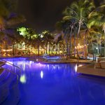 Hotel Pool at night