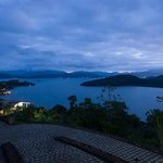 Paraty bay from the balcony in the evening