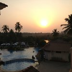 sunset over baga beach