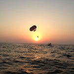 parasailing over the arabian sea