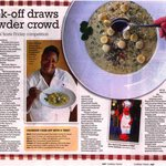 Article on our very own Kelita's Award Winning Chowder!
