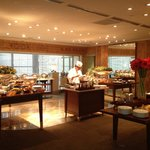 Breakfast in theTemporary Grand Club Room During Renovations