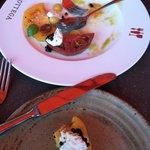 "Burrata-Heirloom Tomatoes-Balsamic ""Caviar"" Appetizer"