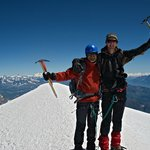 Summit of Mont Blanc, 4810 m.