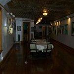 three orbs in dining hall