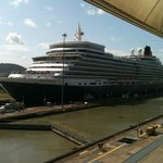 Queen Elizabeth coming through the Panama Canal