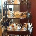 Tea set collection, overseen by Her Majesty