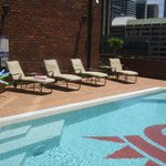 Outdoor pool on the Fifth Floor
