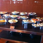 Hors d'oeuvre, pasta salads selections