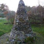 Ancient monument in garden