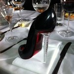 Christian Louboutin champagne flute at the Who'd a Thought It
