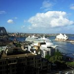 View of Opera House and Sydney Bridge from room