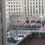 View overlooking Rockefeller Center from the Restaurant on the 8th floor.