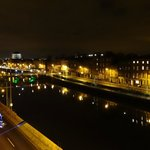View from my balcony of the River Liffey