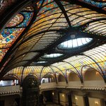 stained glass ceiling from 3rd floor