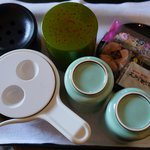Complimentary tea making facilities in the room.