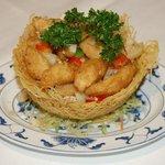 Chicken with garlic & chilli