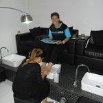 Pedicure and nail art