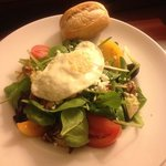 bistro salad w/ fried egg, yum