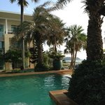 Pool and beach at Residence area