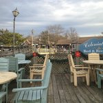 The Cafe's outdoor seating