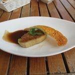 Pan seared Foie Gras in a port wine sauce