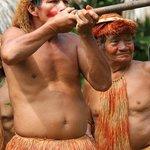 Yagua Indian village
