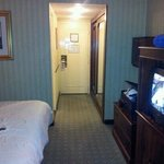 nice room for one on second floor.comfy bed,nice hot shower,